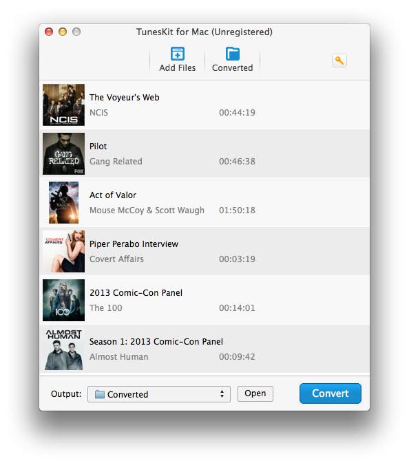 Add iTunes video files
